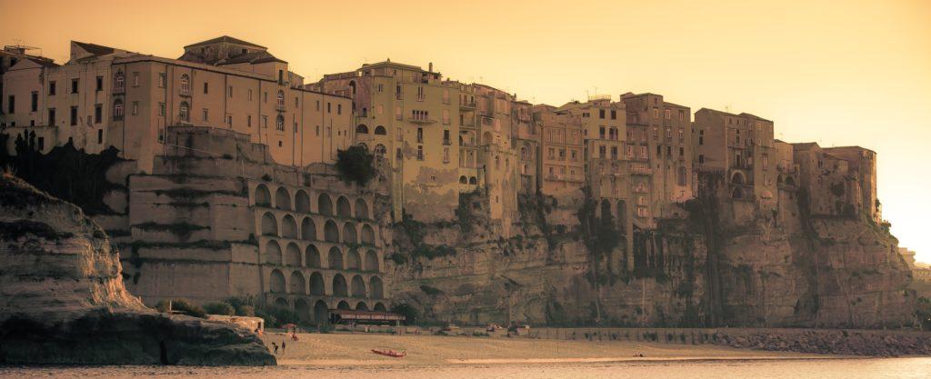 Calabria Tropea zonsondergang